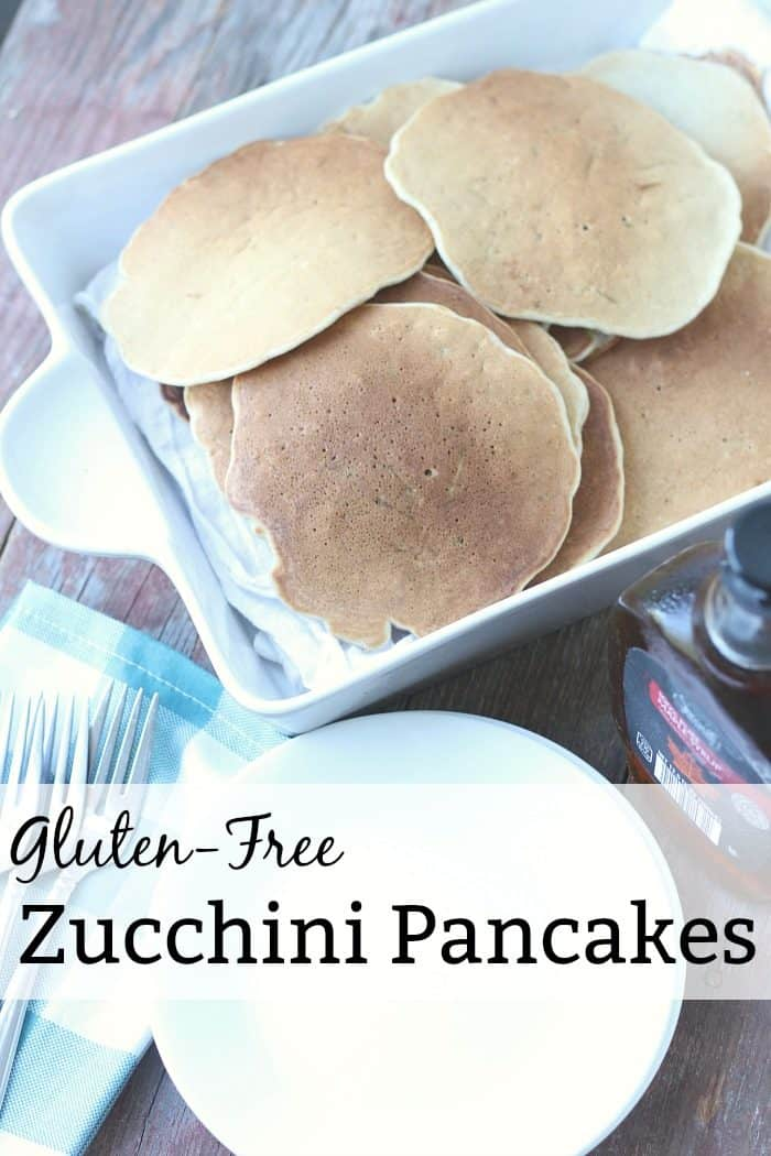 these gluten-free zucchini pancakes are so yummy! Perfect nutritious addition to your school year breakfast repertoire.