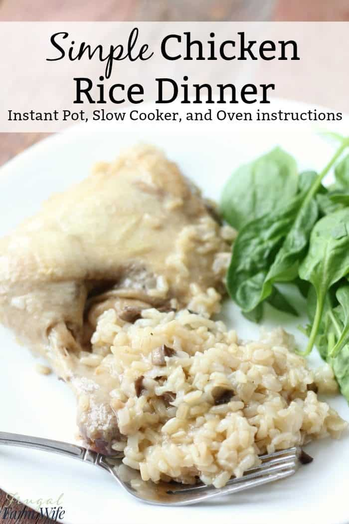 simple chicken rice dinner is even easier than takeout!