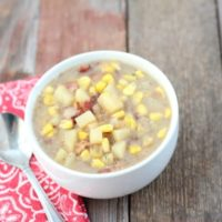 Dairy-Free, Bacon and Potato Corn Chowder