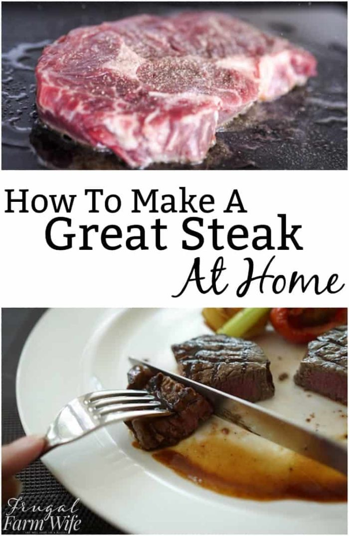 Want a great steak but don't want to go out? Check out these tips to cook a great steak at home!