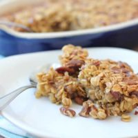 Pecan Pie Baked Oatmeal Recipe