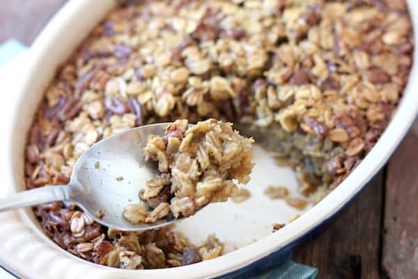 baked oatmeal pecan brown sugar