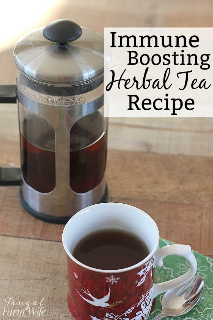 This immune boosting herbal tea recipe will help keep you going at full strength this winter!
