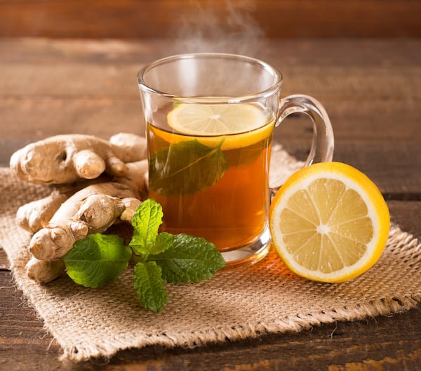 ginger tea for natural headache remedy