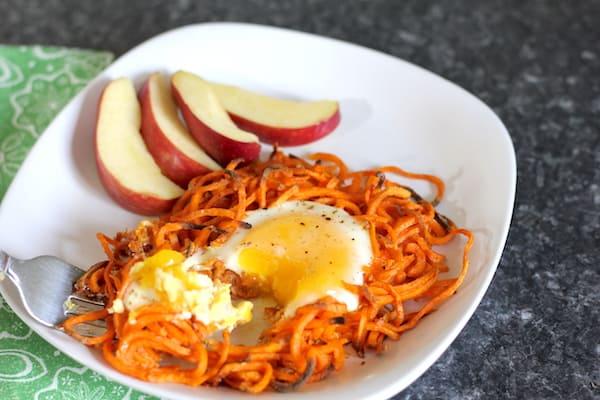 whole30 sweet potato egg nests