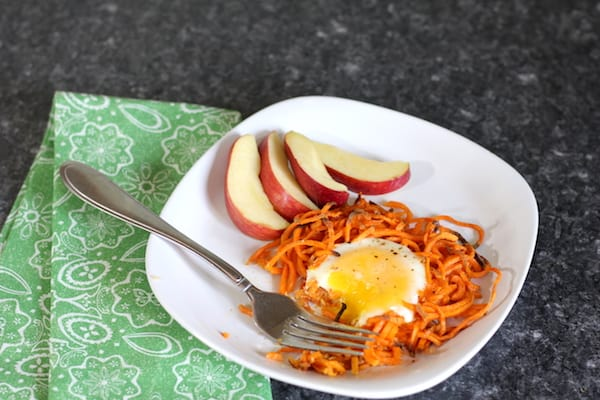 clean eating simple sweet potato egg nests