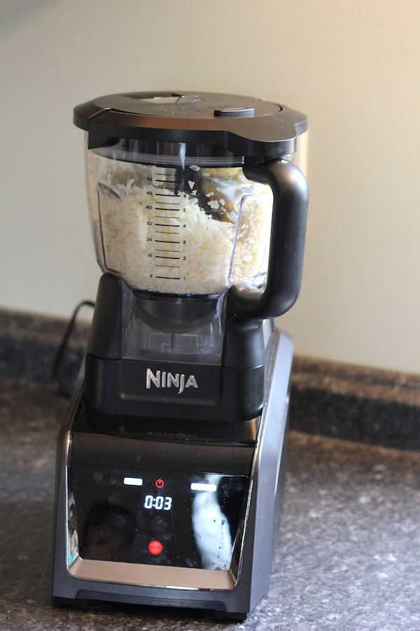 ninja blender making sweet potato egg nests