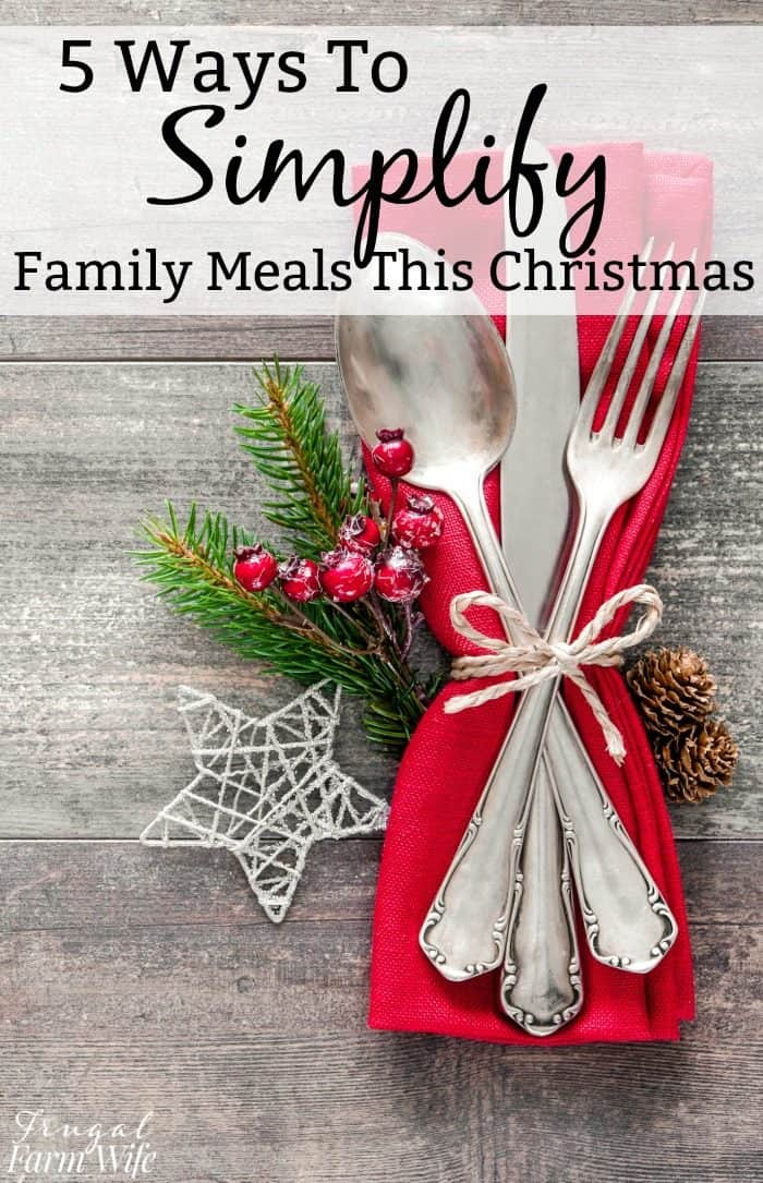 5 tips to simplify christmas meals