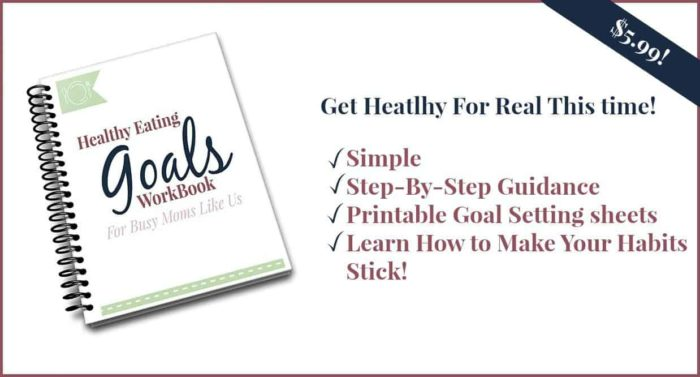 healthy eating goals workbook