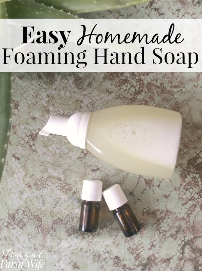 This easy homemade foaming hand soap will help your kids stay clean without waste!