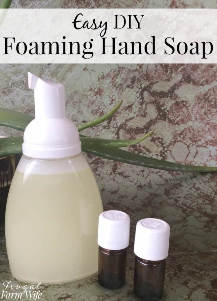 Easy Homemade Foaming Hand Soap is a lifesaver if you have messy kids!
