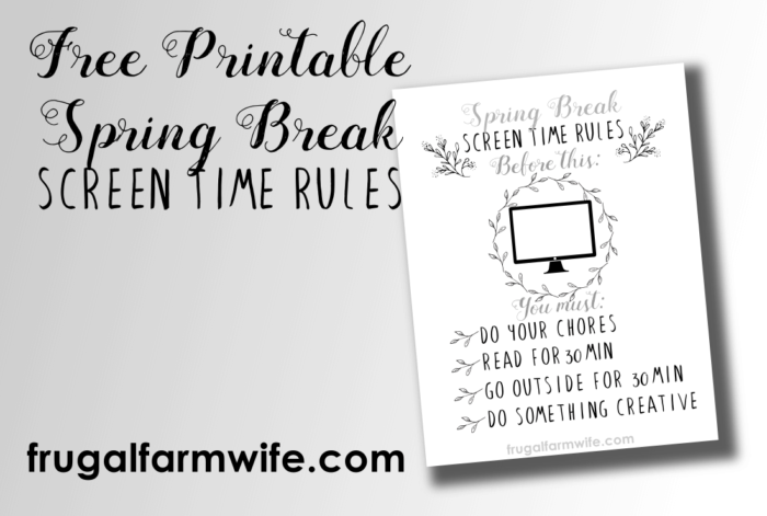 photograph about Screen Time Rules Printable known as Exhibit Period Pointers Free of charge Printable The Frugal Farm Spouse