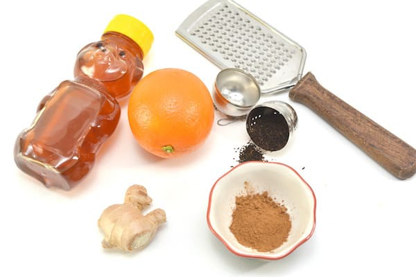 ingredients for orange spice detox tea