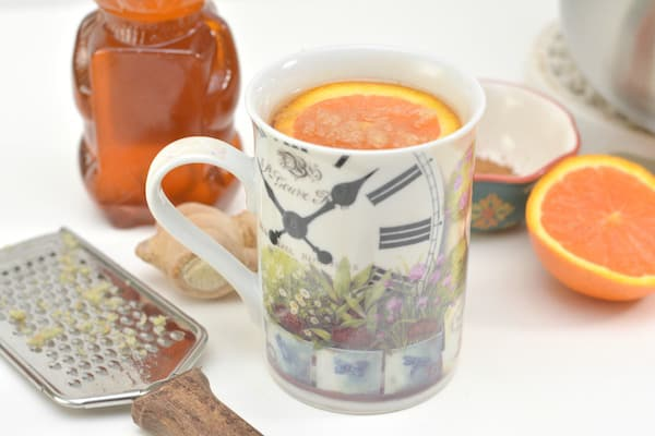 detox tea with orange and spices