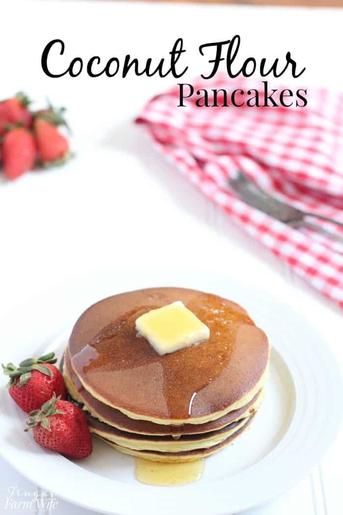 Need a breakfast treat with no guilt? These coconut flour pancakes are perfect!