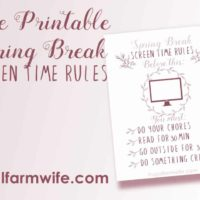 Spring Break Screen Time Rules {Free Printable}