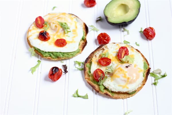 broiled breakfast tostadas