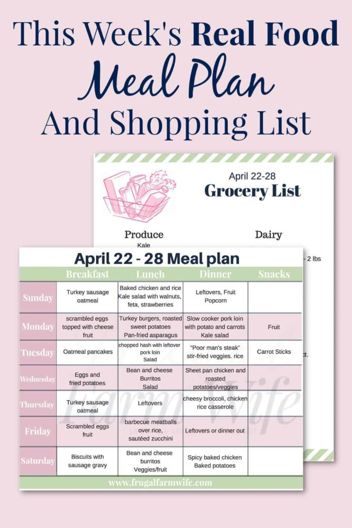 How about having your meal planning done for you? Check out this real food meal plan + shopping list!