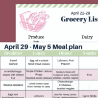 {{Printable}} Real Food Meal Plan and Shopping List for April 29-May 5