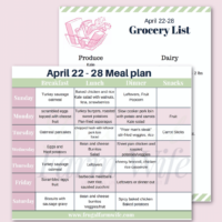 {{Printable}} April 22-28 Real Food Meal Plan + Shopping List