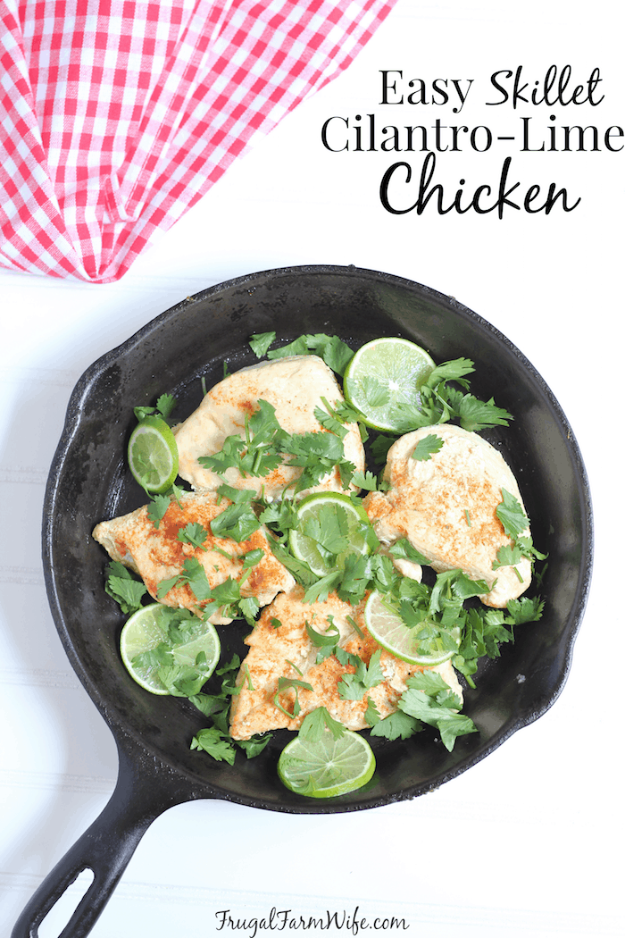 Chicken for dinner again? Heck yes! And with this easy skillet cilantro lime chicken, your kids will be begging for more!