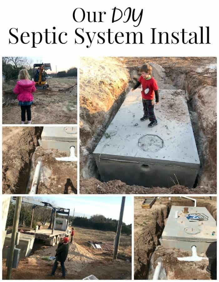 This is how we installed our DIY septic system