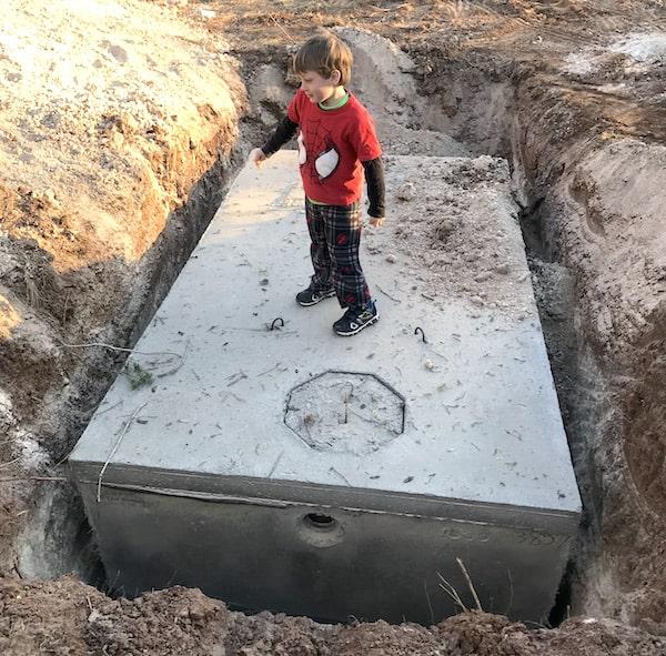 new septic tank