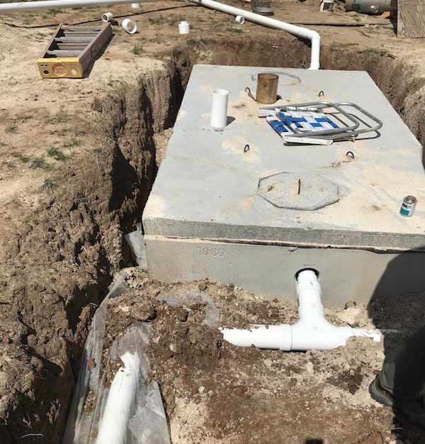 connecting septic pipes