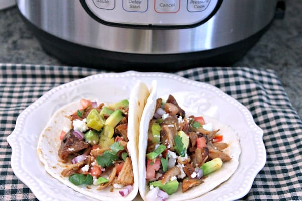 pulled pork street tacos made in an instant pot