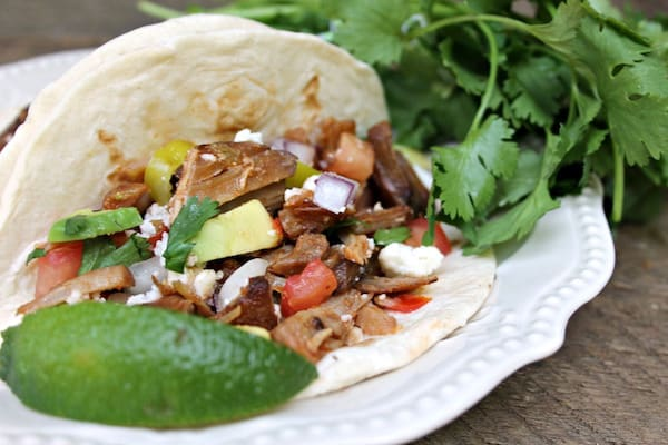 instant pot pulled pork taco