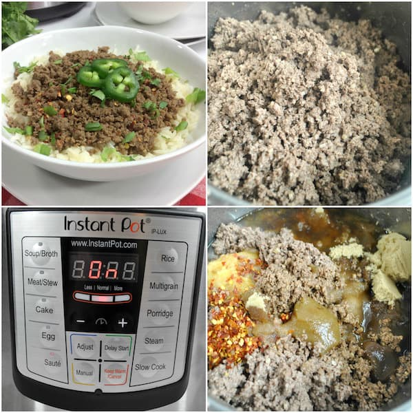 Instant Pot Korean beef bowls