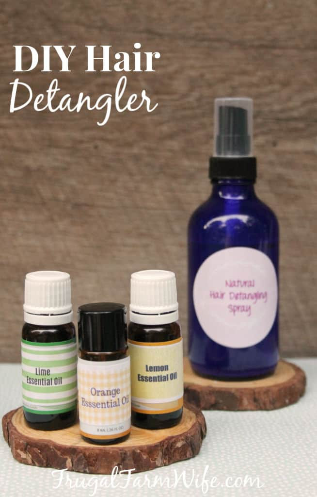 I didn't realize how necessary this DIY Hair Detangler With Essential Oils would be until I had a daughter