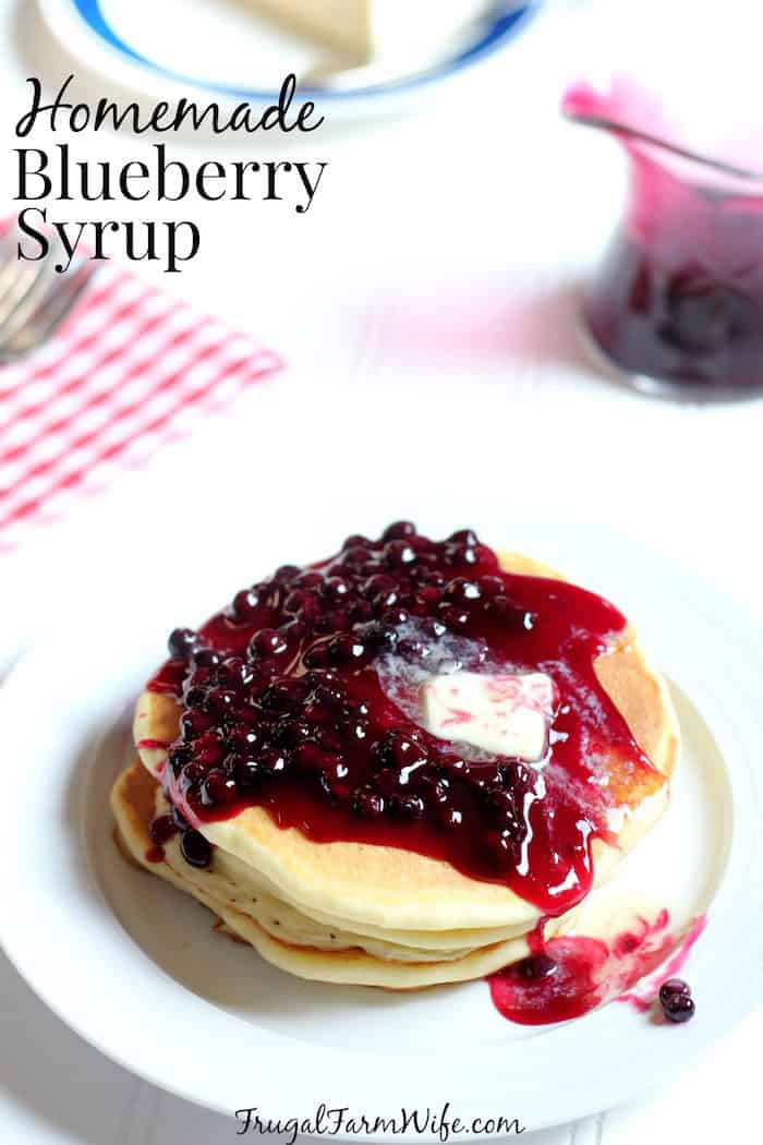 homemade blueberry syrup recipe is perfect for summer breakfasts!