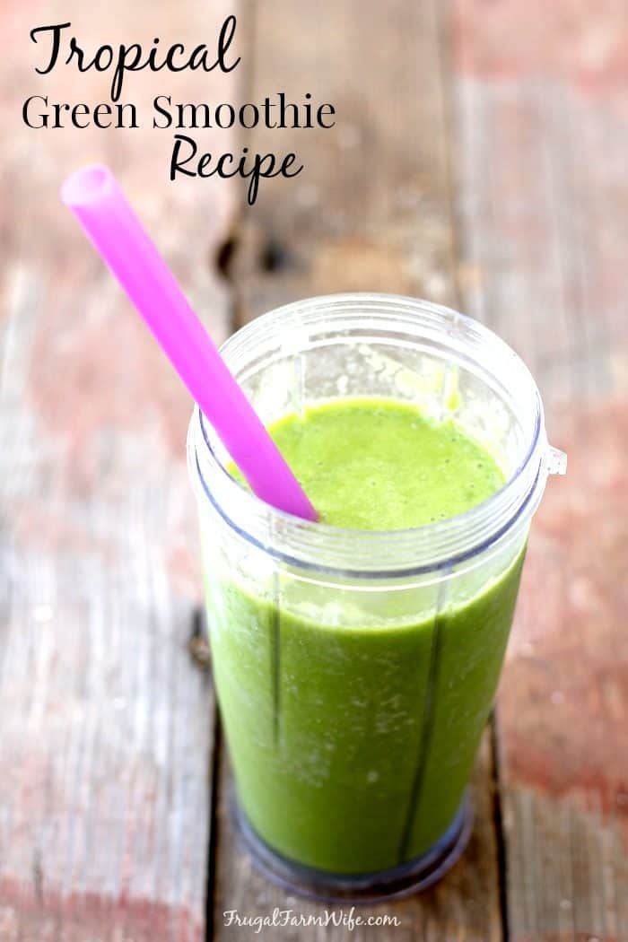 This tropical green smoothie recipe is easy enough for beginners, and tasty enough to keep in your every day repertoire!