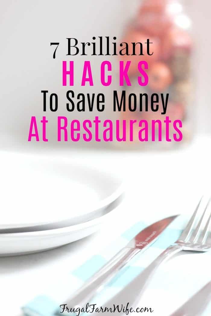 these 7 brilliant hacks to save money at restaurants have been a game changer for hubby and I! We recently went to Olive garden hardly paid anything!