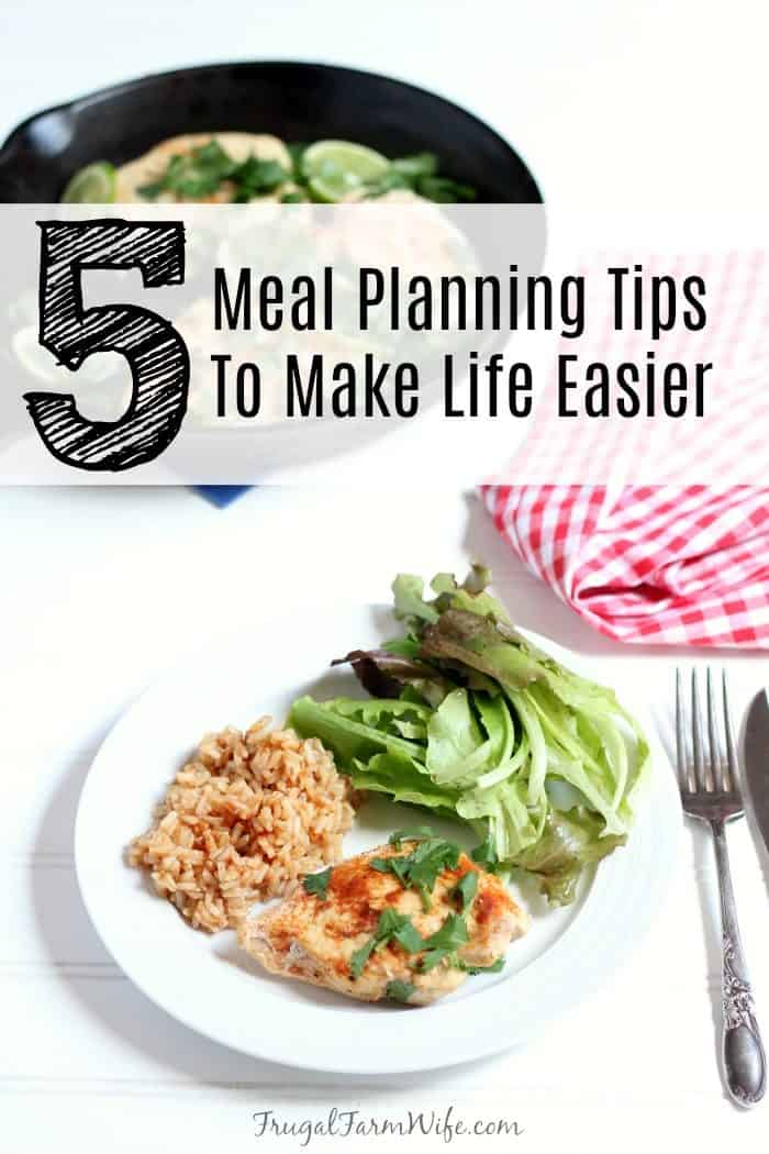 These 5 meal planning tips will change your life!