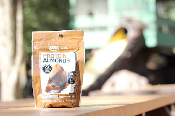 optimum nutrition chocolate protein almonds