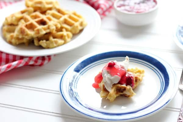 Waffles with Thanksgiving Leftovers