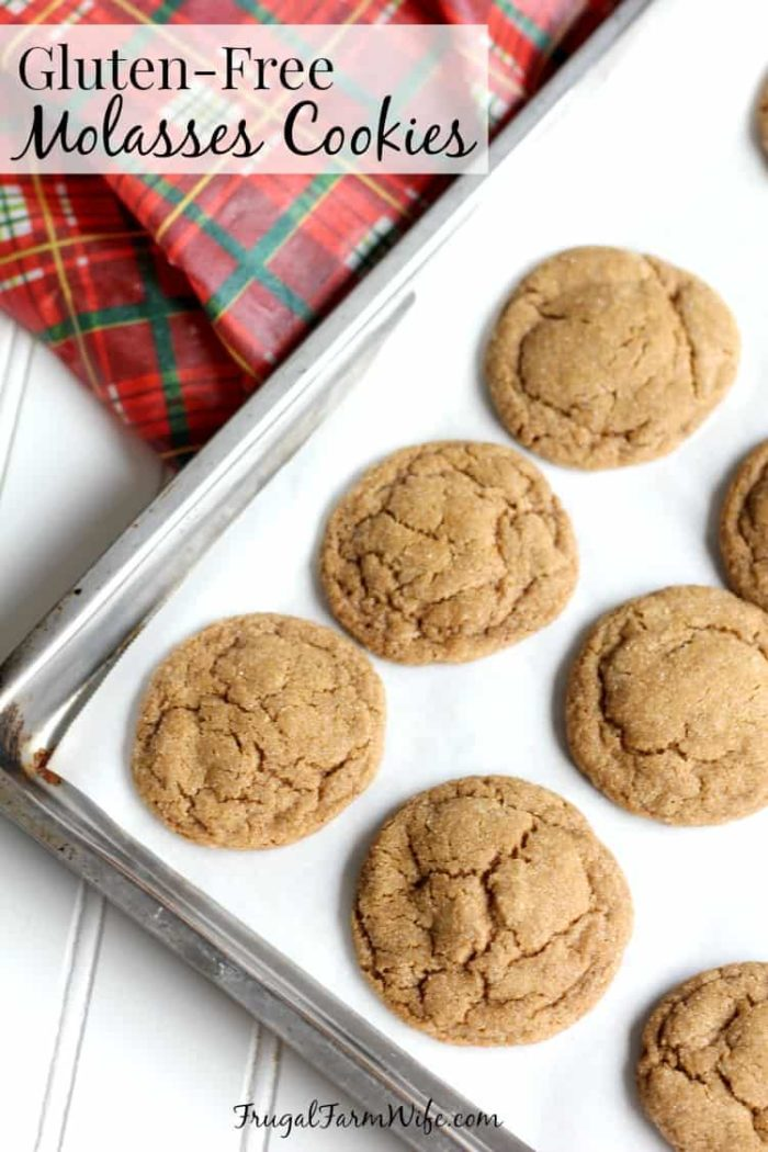 old fashioned molasses cookies on a cookie sheet