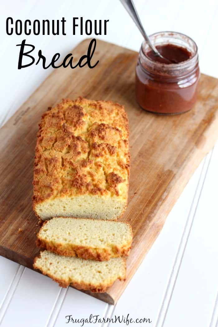 Low carb, and easy to make coconut flour bread!