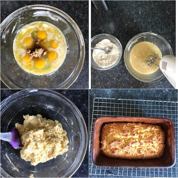 coconut flour bread ingredient collage