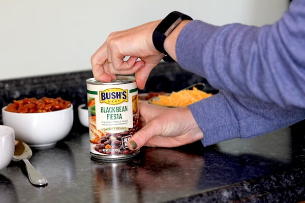 5 minute tacos with BUSH'S Savory Beans