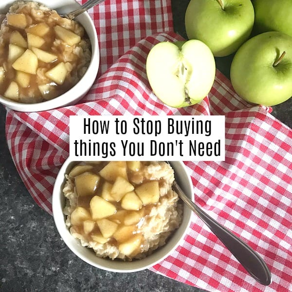 How to stop buying things you don't need