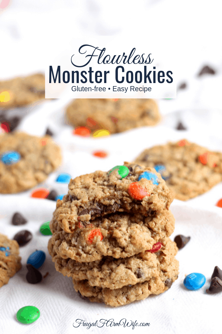 These flourless monster cookies are the perfect easy recipe treat for your gluten-free diet!