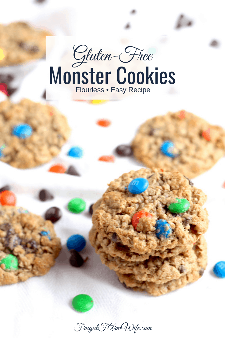 These flourless gluten-free monster cookies hit the spot when you're craving an indulgent afternoon snack!