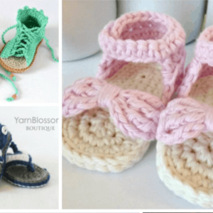 Adorable Crochet Baby Sandals Patterns You Can Make