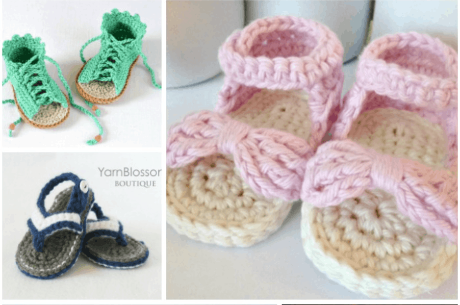 593496433aae Adorable Crochet Baby Sandals Patterns You Can Make