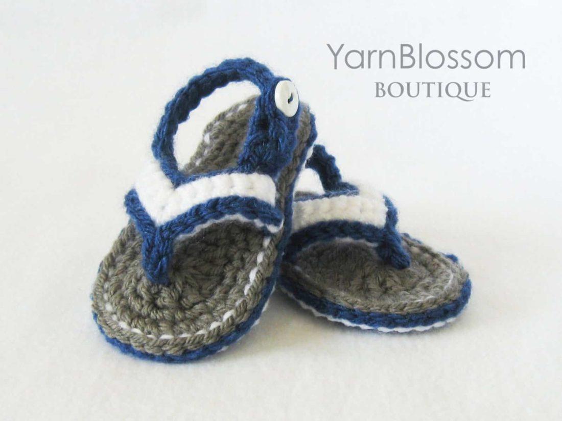 crochet baby flip-flops pattern