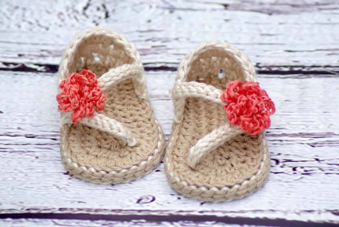 crochet pattern for adorable baby sandals