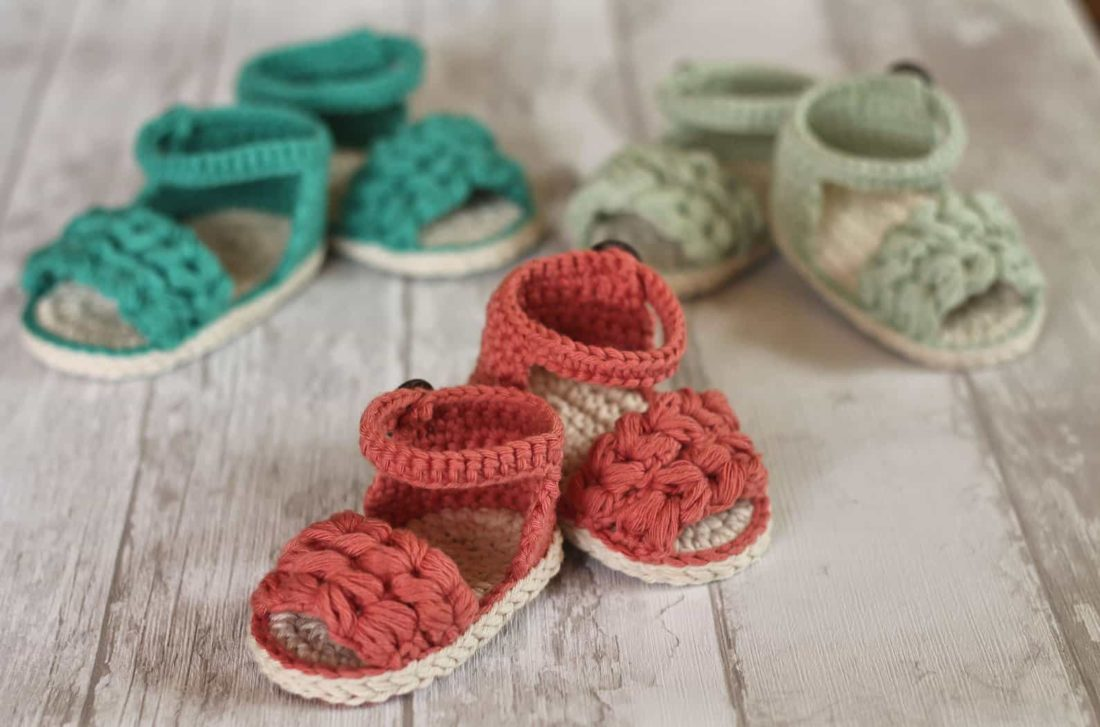 crocheted beach sandals pattern for baby